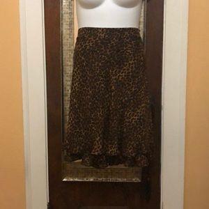 📌Leopard print georgette skirt